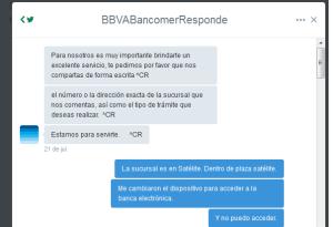 Bancomer Redes sociales